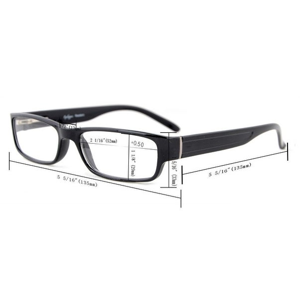 Anti Glare Anti Blue Rays Yellow Tinted Lenses, Black-Yellow +2.75 Scratch Resistant Lens Computer Reading Glasses Readers Eyekepper Spring Hinges UV Protection