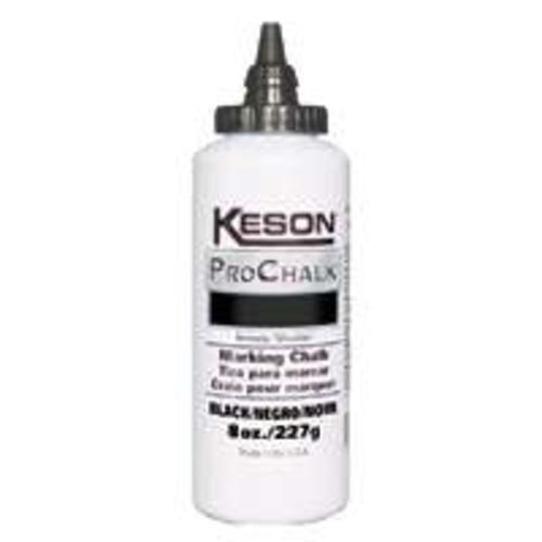 Keson Industries 8BLACK 8Oz Pro Chalk Black