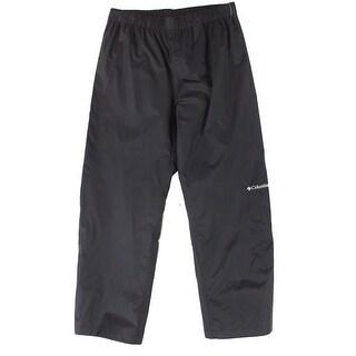 Columbia Black Mens Size Large L Water-Resistant Sport Jogger Pants