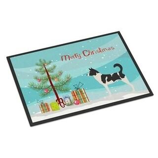 Carolines Treasures BB8491MAT Canaan Dog Christmas Indoor or Outdoor Mat - 18 x 27 in.