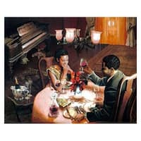 ''Enchanted Evening'' by Edward Clay Wright African American Art Print (26 x 32 in.)