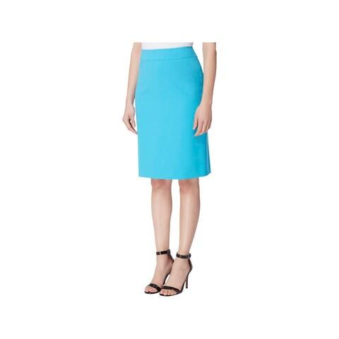 Tahari ASL Womens Petites Pencil Skirt Crepe Knee-Length