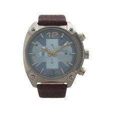 Diesel Dz4340 Chronograph Overflow Dark Brown Leather Strap Watch Watch For Men