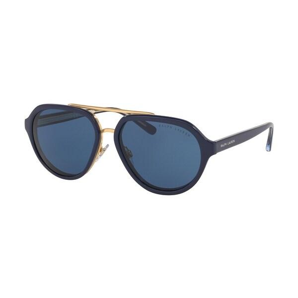 Ralph Lauren RL8174 572980 57 Navy Blue Woman Irregular Sunglasses. Opens flyout.