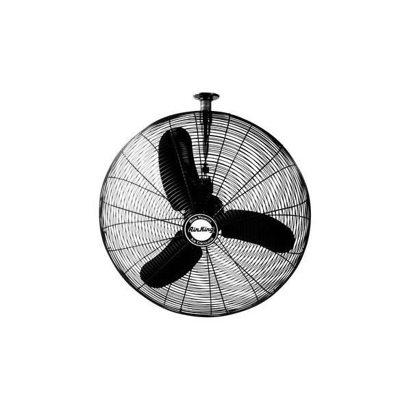 "Air King 9675 30"" 8780 CFM 3-Speed Industrial Grade Oscillating I-Beam Mount Fan - na"
