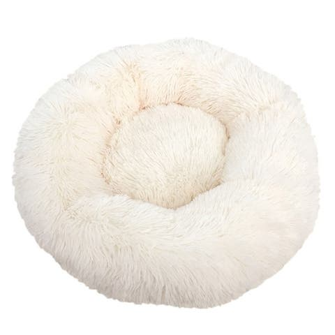 Pet Soft Plush Kennel Small and Medium Dogs Cat Deep Sleep Velvet Round for Dogs and Cats - XS