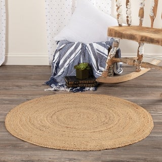 Link to Harlow Jute Round Rug - 6' x 6' Similar Items in Transitional Rugs