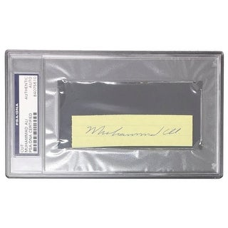 Muhammad Ali Signed Slabbed Cut Signature PSA 84075610