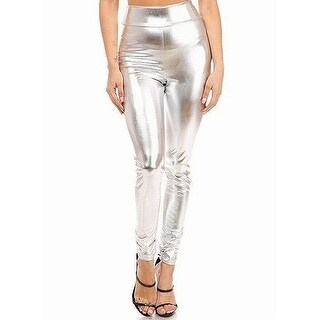 K Too Silver Women's Size Small S Banded Legging Dress Pants Stretch