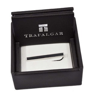 Trafalgar Black Bar Tie Clip Silver
