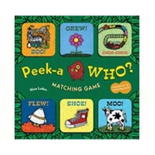 Chronicle Books CB9781452133591 Peek-A-Who Matching Game