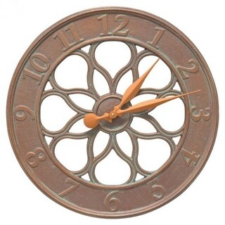 Whitehall Products Medallion Clock, Copper Verdi