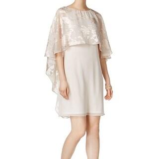 Jessica Howard Beige Womens Size 12P Petite Floral Shift Dress