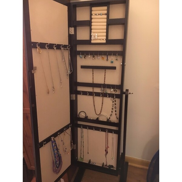 Shop Hives U0026 Honey Trinity Cheval Espresso Standing Mirror Jewelry Armoire    Free Shipping Today   Overstock.com   10138625