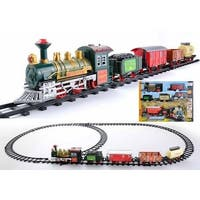 NorthLight Battery Operated Lighted & Animated Continental Express Train Set with Sound, 16 Piece