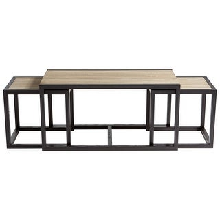 "Cyan Design 09628  Melies 47-1/4"" Long Wood Accent Table - Oak / Black"