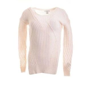 Bar III Long-Sleeve Mixed Knit Sweater - XS