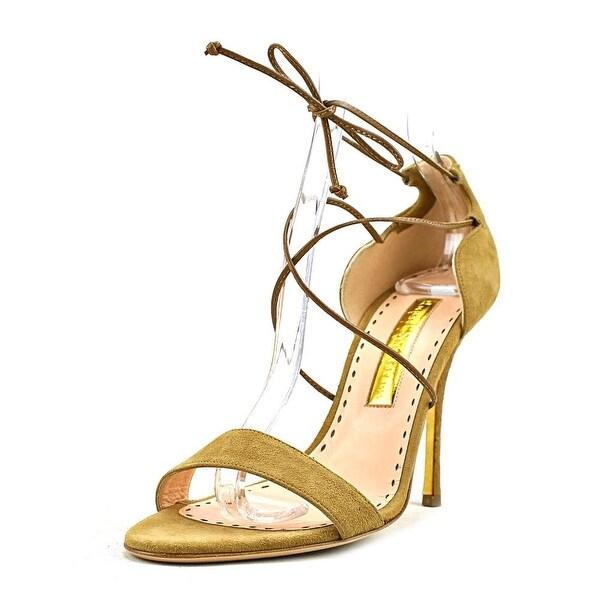 Rupert Sanderson Mitra Women Open Toe Suede Tan Sandals