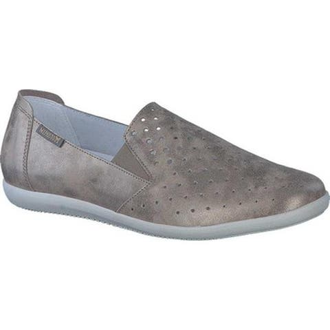 Mephisto Women's Korie Perforated Slip On Dark Taupe Monaco Smooth Leather