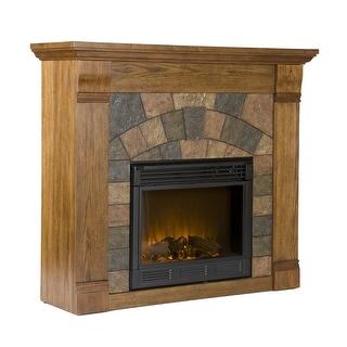 Southern Enterprises FE9282 Elkmont Salem Electric Fireplace - Antique Oak