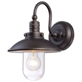 The Great Outdoors 71163-143C 1 Light Outdoor Wall Sconce in Oil Rubbed Bronze from the Downtown Edison Collection