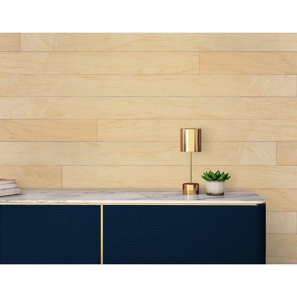 "Novogratz Genuine DIY Hardwood Wall Panels (20 Sq. Ft. of 5.1"" Wide Panels). Opens flyout."