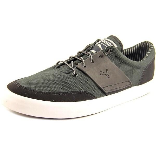 Puma El Ace 4 Men Round Toe Canvas Black Running Shoe