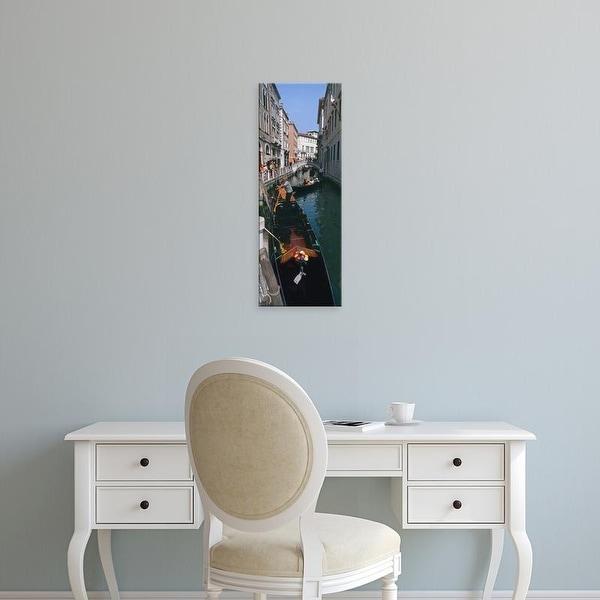 Easy Art Prints Panoramic Images's 'Gondolas in a canal, Venice, Veneto, Italy' Premium Canvas Art