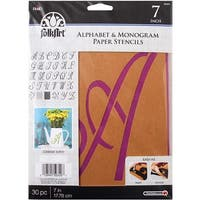 "Script 7"" 30/Pkg - Folkart Paper Stencil 6""-8"""