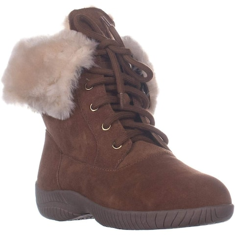 Style & Co. Womens Angiee Leather Round Toe Ankle Cold Weather Boots