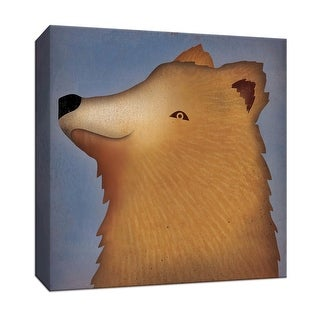 """PTM Images 9-153158  PTM Canvas Collection 12"""" x 12"""" - """"Brown Bear Wow"""" Giclee Bears Art Print on Canvas"""