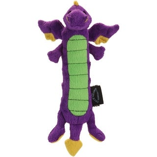 Purple - goDog Skinny Dragons with Chew Guard Large
