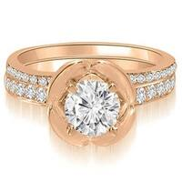 1.00 cttw. 14K Rose Gold Round Cut Diamond Bridal Set