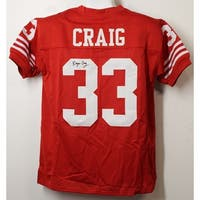 a8f3b822784 Roger Craig Autographed San Francisco 49ers Size XL Red Jersey Jsa