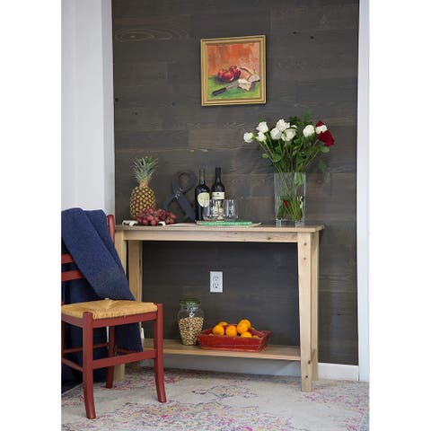 Timberchic Reclaimed Wooden Wall Planks - Peel and Stick Application (Breakwater)