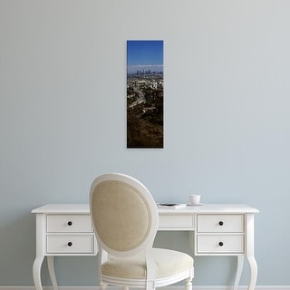 Easy Art Prints Panoramic Image 'Buildings in a city, Hollywood, City Of Los Angeles, California' Canvas Art