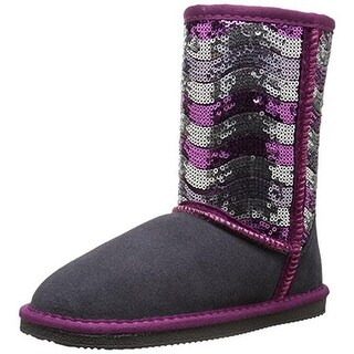 Lamo Girls Stripy Suede Casual Boots - 3