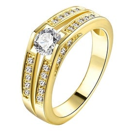 Classical Engagement Gold Jewel Ring
