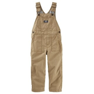 OshKosh B'gosh Baby Boys' Canvas Overalls - Golden Brown Wash, 12 Months