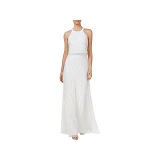 Adrianna Papell Womens Evening Dress Halter Full-Length