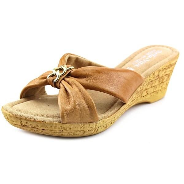 Bella Vita Aquila WW Open Toe Leather Wedge Sandal