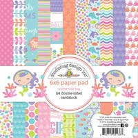 """Doodlebug Double-Sided Paper Pad 6""""X6"""" 24/Pkg-Under The Sea, 12 Designs/2 Each"""
