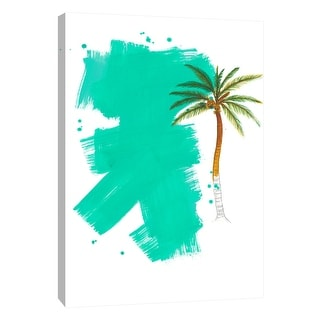 """PTM Images 9-105246  PTM Canvas Collection 10"""" x 8"""" - """"Palm 4"""" Giclee Palm Trees Art Print on Canvas"""