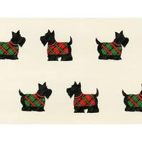 "Pack of 1, Cream Scottie Dogs 24"" x 417' Half Ream Roll Gift Wrap for Party, Kids' Birthday, Wedding & Occasion"