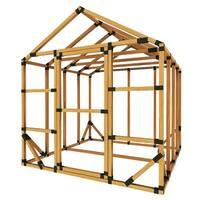 8X8 E-Z Frame Greenhouse or Storage Shed Kit - Black - 8'x8'