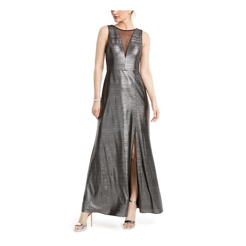 NIGHTWAY Womens Gray Sleeveless Maxi Shift Evening Dress Size 6