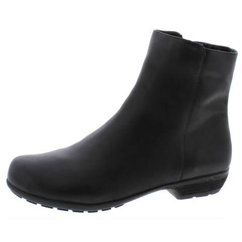 Walking Cradles Womens Mid-Calf Boots Midi Round Toe - Black - 10 Wide (C,D,W)