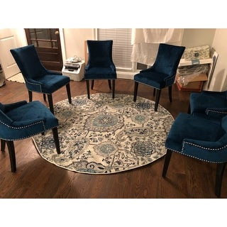 Shop Safavieh Dining Lester Navy Dining Chairs Set Of 2