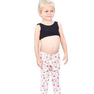JAEA Kids Little Girls Multi Color Stretchy Little Yogi Floral Leggings