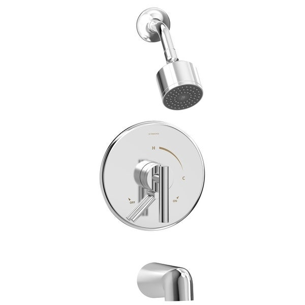 Symmons S-3502-CYL-1.5-TRM Dia Tub and Shower Trim Package with 1.5 GPM Single Function Shower Head